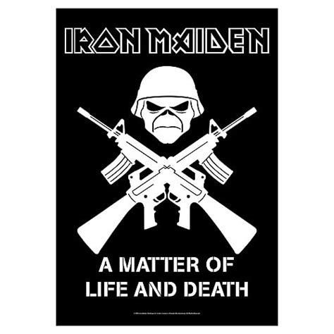 iron maiden a matter of and iron maiden a matter of and 1 fabric poster