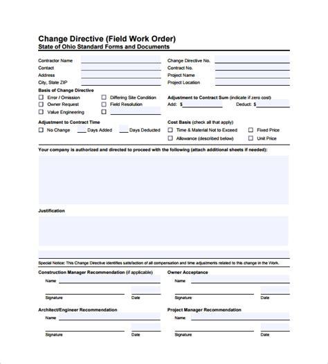 6 maintenance work order form sample free sample example