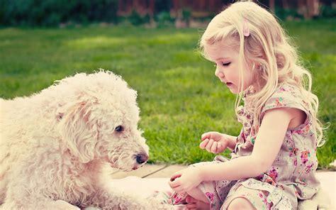 wallpaper girl dog cute girl with dog
