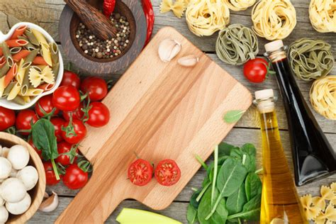 cooking board italian cooking ingredients cutting board kitchen
