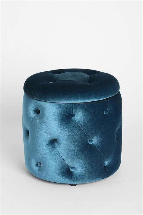 navy blue tufted ottoman button tufted navy blue velvet cube ottoman