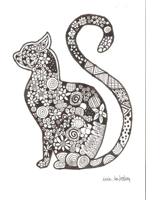 zen cat coloring page coloriage chat cat coloriage animaux pinterest chats