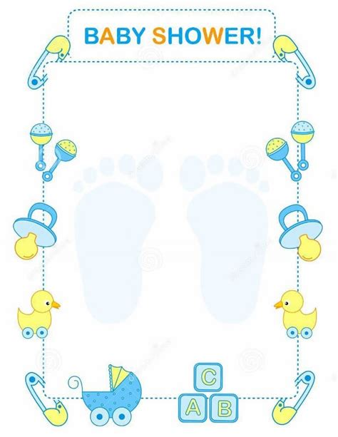 baby boy shower templates invitations how to make an invitation on word with free templates