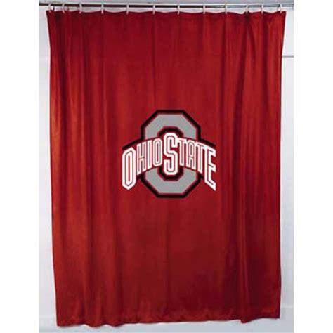 ohio state curtains ohio state buckeyes jersey shower curtain