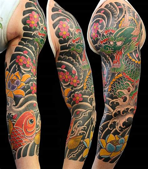 left arm tattoo designs attractive japanese design on left arm