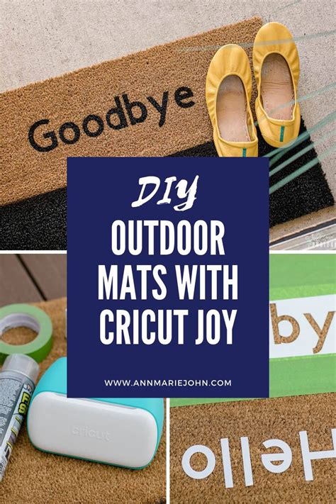 diy personalized outdoor mats  cricut joy annmarie