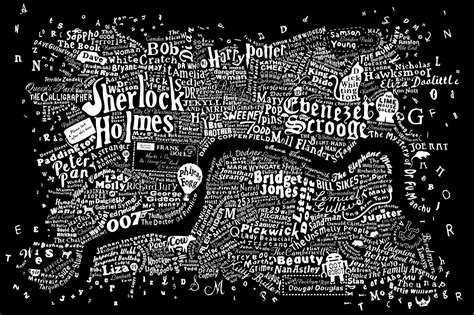 literary london the literary map of london is just beautiful