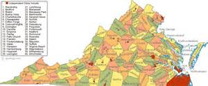 Map Virginia by Map Of Virginia