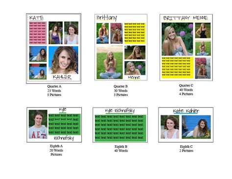 yearbook ad templates free senior year yearbook third year ads templates