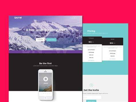 bootstrap business card template snow free bootstrap landing page template free