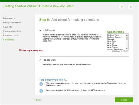 qlikview programming tutorial create new qlikview report using wizard 17