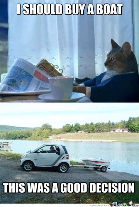 sophisticated cat i should buy a boat i should ve bought this boat sooner by bakoahmed meme center