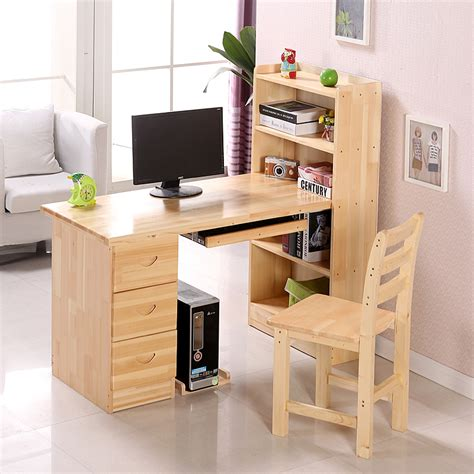 wood computer desk sturdy solid wood computer desk atzine