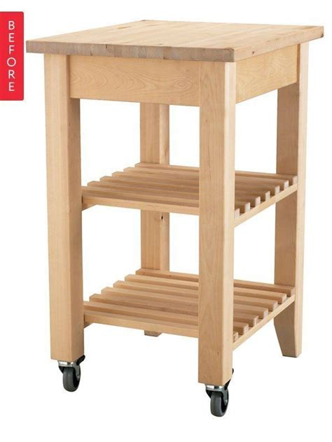 kitchen island on wheels ikea before after ikea bekvam cart gets a makeover extra
