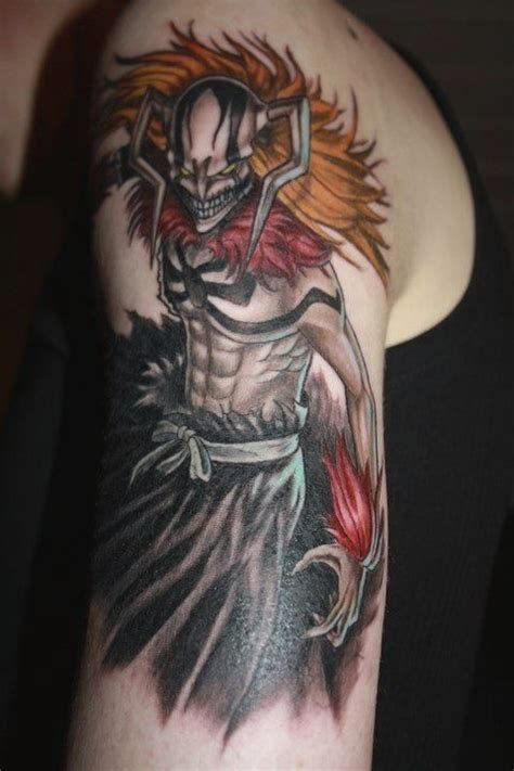 anime sleeve tattoo 7 anime tattoos on half sleeve