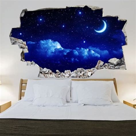 3d Wandtattoo Schlafzimmer by Sticker Mural 3d Ciel 233 Toil 233 D 233 Co S D I Y