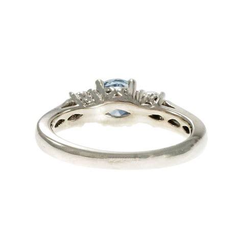Light Sapphire Engagement Rings by Light Blue Sapphire Platinum Three