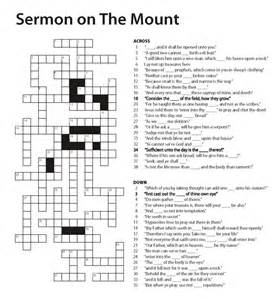 Church crossword puzzles sermon on the mount crossword puzzle