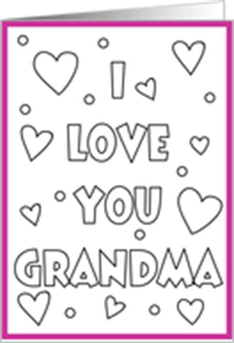 coloring page i love you grandma card product 221150