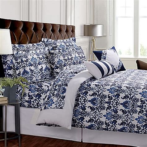 bed bath and beyond tribeca buy tribeca living catalina reversible queen duvet cover
