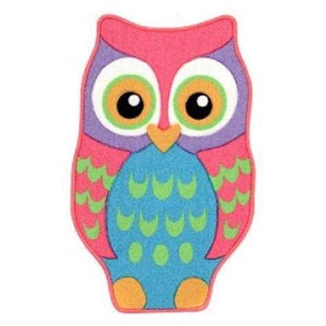 Owl Area Rug by Adorable Bright Colored Area Rug Owl Owl Rug 20 Quot X 32 Quot New Ebay