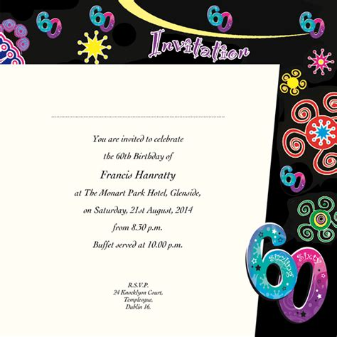 backdrop design for 60th birthday occasion card 60 1i 60th birthday wedding invitations
