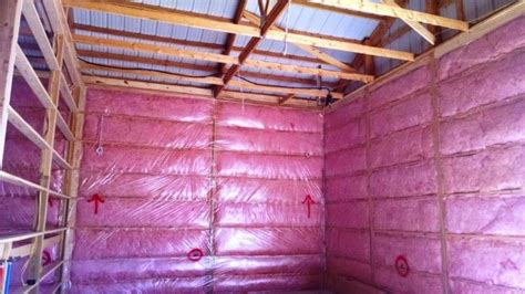 Shed Insulation Price by How To Insulate A Pole Barn Ceiling Ceiling Tiles