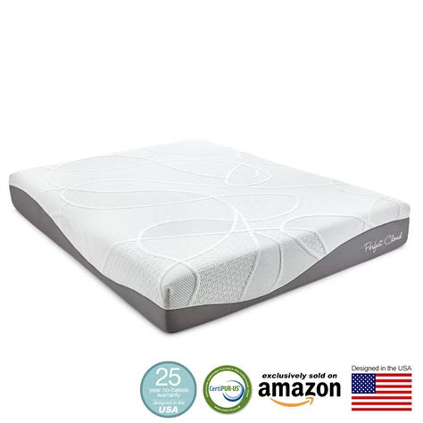 amazon queen mattress perfect cloud ultraplush gel max 10 inch memory foam