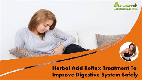 herbal acid reflux treatment to improve digestive system
