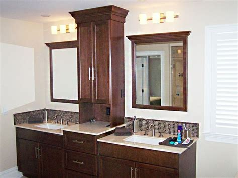 sink vanity with middle tower bathroom vanities with towers vanity with