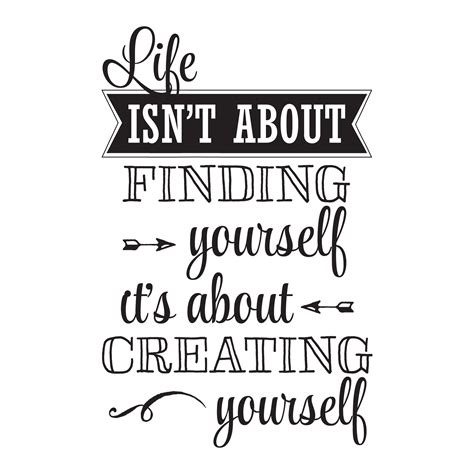 Creating Yourself Wall Quotes? Decal   WallQuotes.com