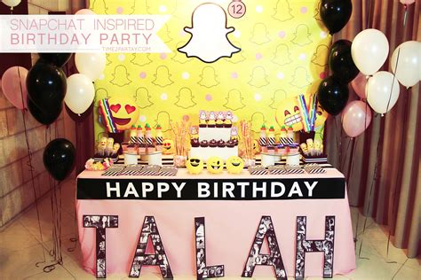 themes birthday a snapchat inspired birthday party time2partay com