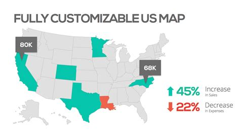 map templates for powerpoint us map template wordscrawl