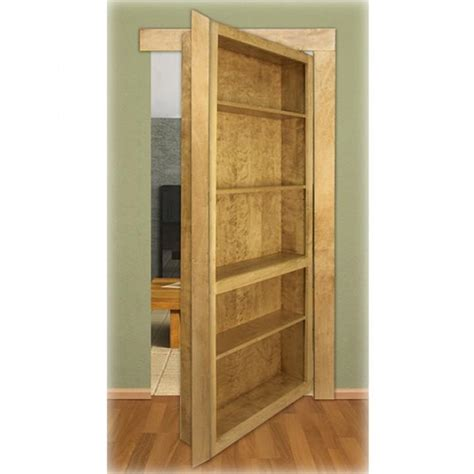 invisidoor bookcase shelving unit kit oak rockler