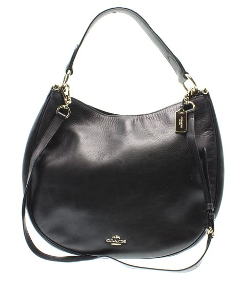 Coach Gallery Leather Laced Purse by Coach Black Gold Nomad Large Hobo Leather Shoulder Handbag