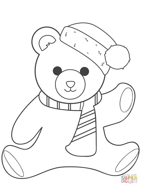 christmas coloring pages teddy bear christmas teddy bear coloring pages
