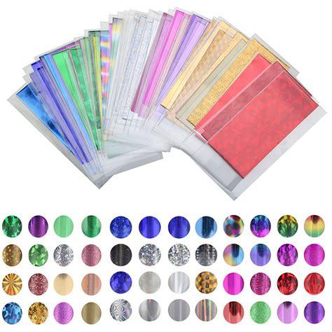 color transfer 48 sheet 35cm 4cm mix color transfer foil nail