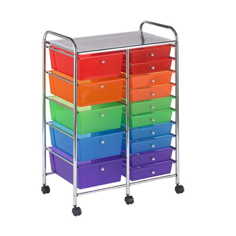 15 drawer organizer cart buy mobile storage cart 15 drawer multi os1