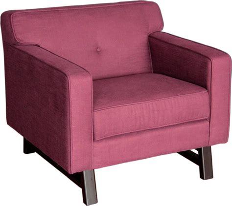 Purple Arm Chair by Armen Living Arm Chair Claret Purple Fabric Al