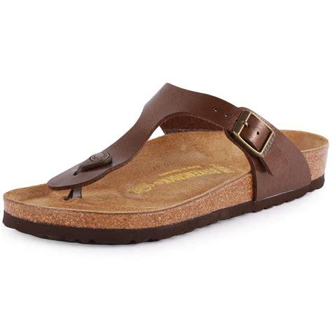 Birkenstock Gizeh birkenstock gizeh womens synthetic leather toffee sandals