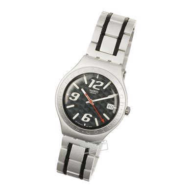 Swatch Ag 2004 swatch coal black ygs4019ag squiggly swatch