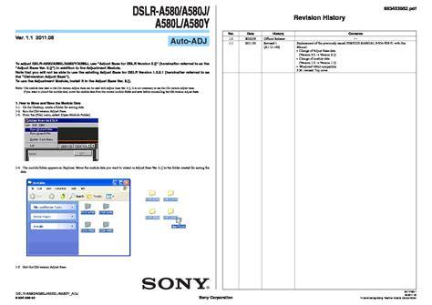 Kamera Sony Dslr A580 sony dslr a580 dslr a580j dslr a580l dslr a580y service