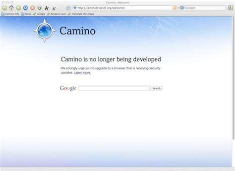 camino browser it s the end of the road for the camino browser for macs