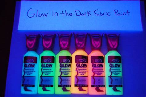 in the fabric paint tulip 6 pack 1 25oz assorted glow in the fabric paint
