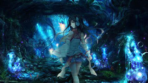 anime underwater 1920x1080 anime underwater headphones