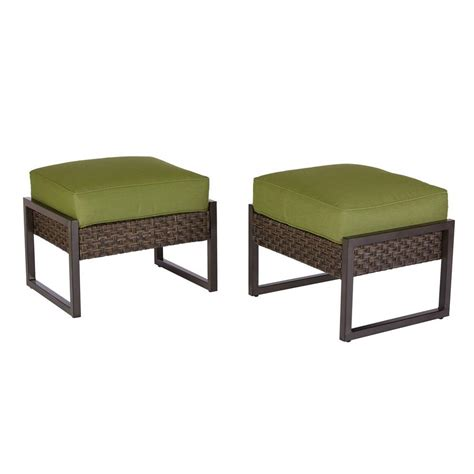 outdoor ottomans on sale home depot carol stream metal and woven patio ottomans 2
