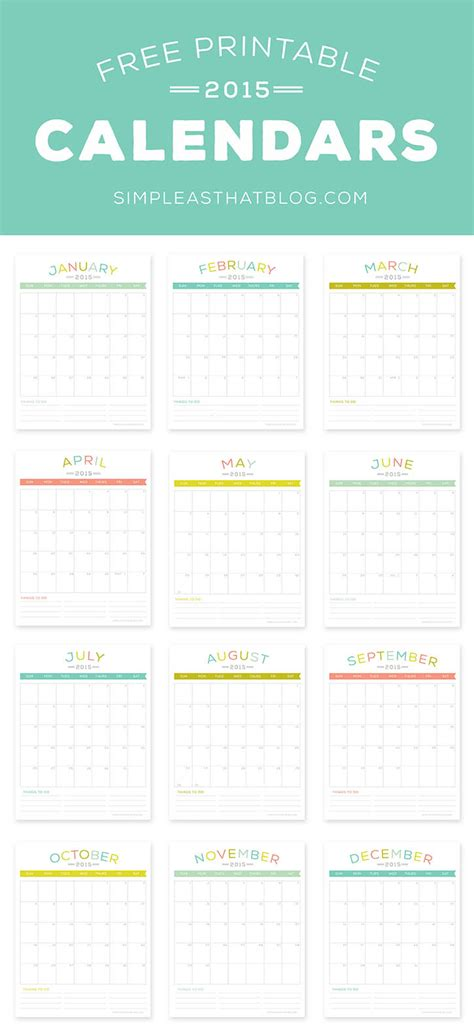 yearly 2015 printable calendar color week starts on monday free printable 2015 calendars