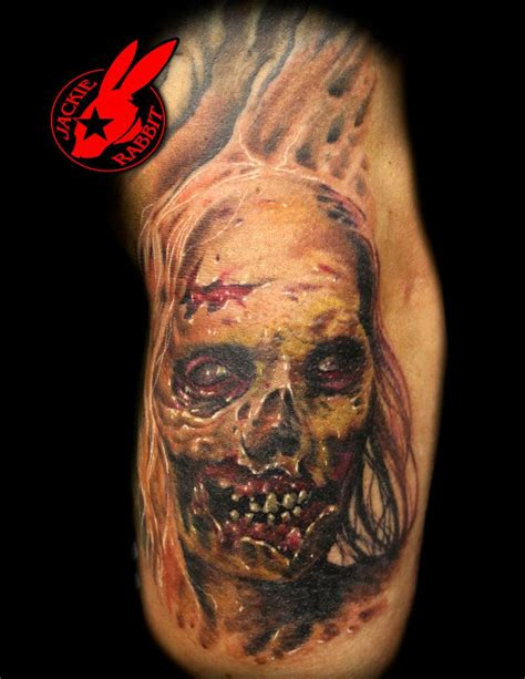 zombie tattoo by jackie rabbit by jackierabbit12 on deviantart