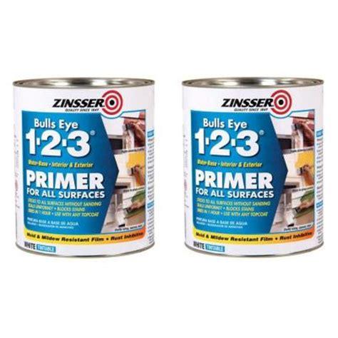 primer for bathroom zinsser bulls eye 1 2 3 1 qt water based white primer
