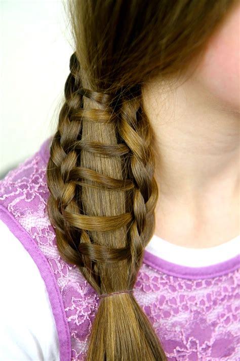 braided hairstyles side ponytail ladder braid into side ponytail cute hairstyles cute